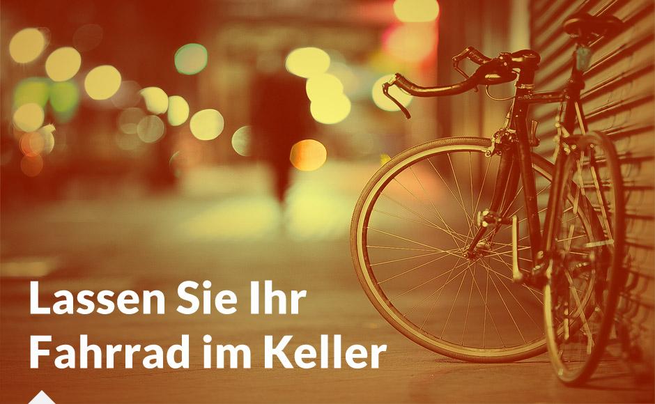 Lassen Sie Ihr Fahrrad im Keller